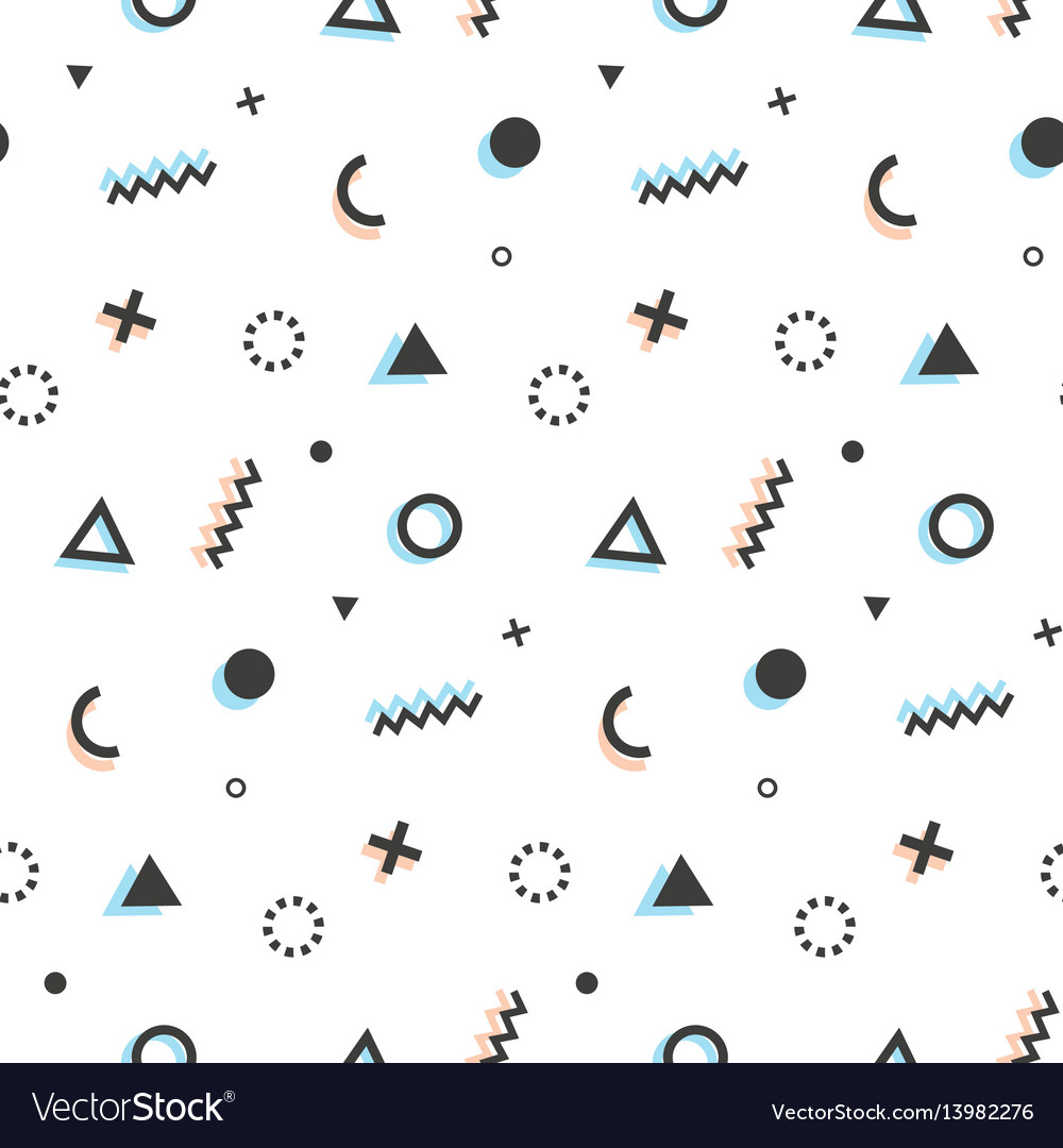 Geometric seamless pattern background memphis art