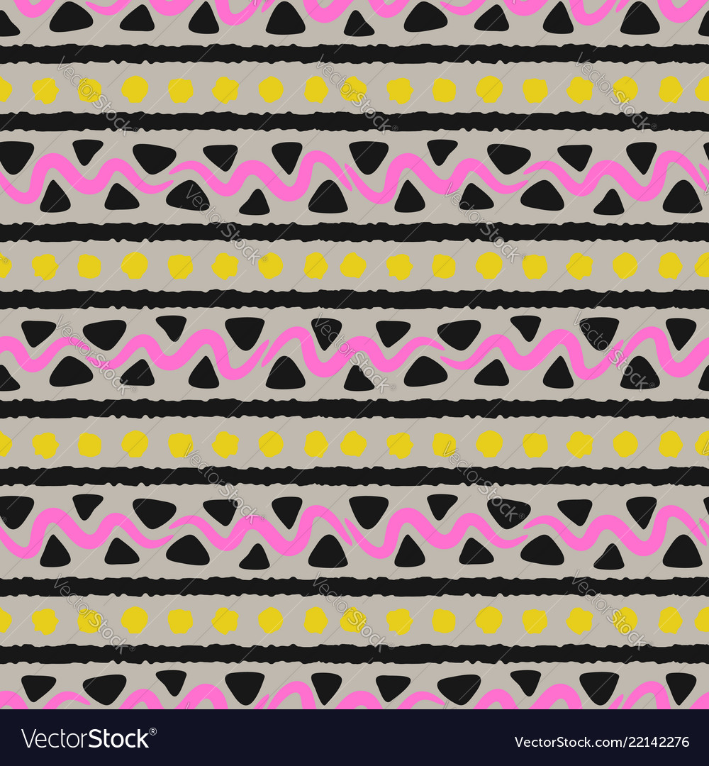 Handmade ethnic style seamless pattern