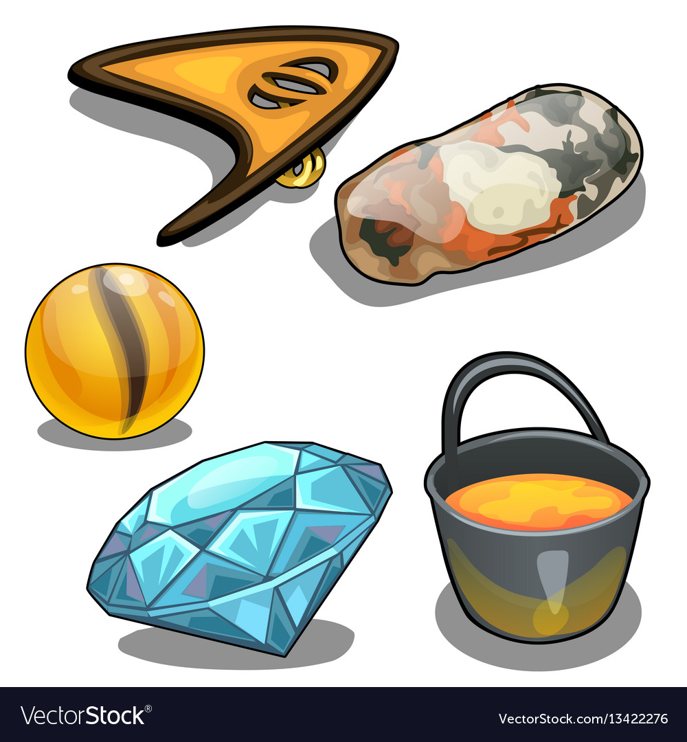 Jewelry and their production concept vector image