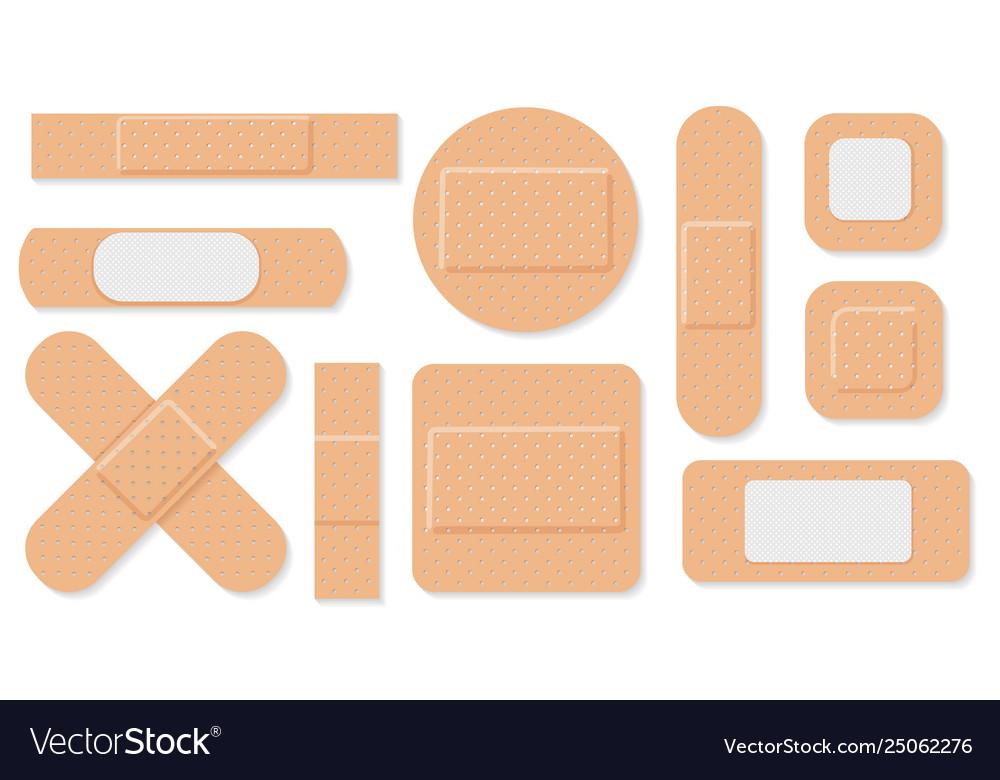 Medical plasters set