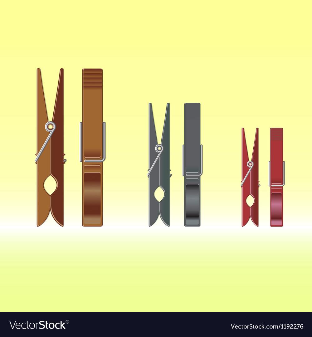 Metal clothes pin set