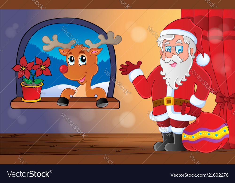Santa claus indoor scene 9