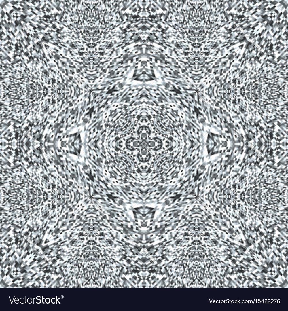Television noise glitch mandala pattern