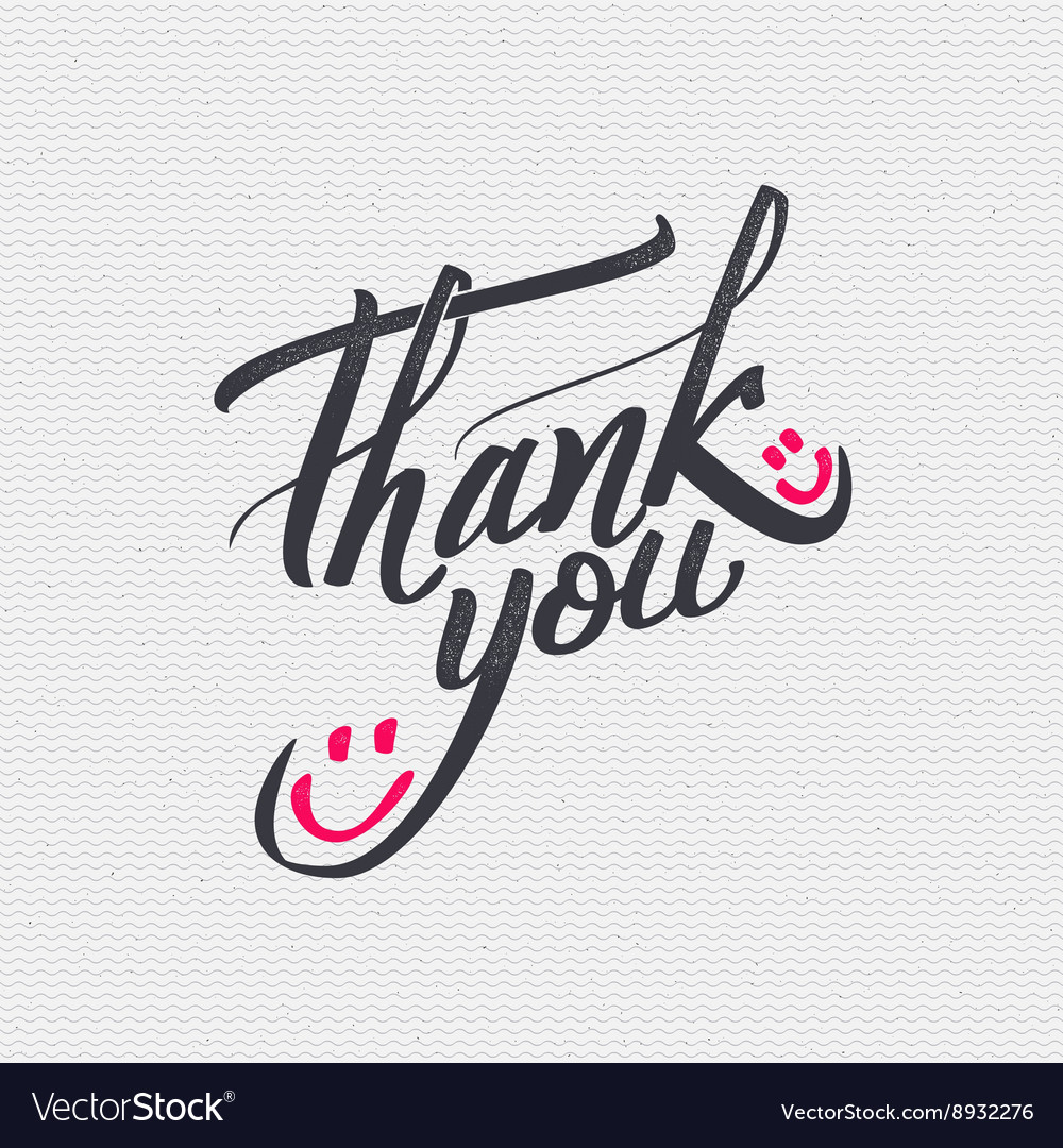 thank you card background lettering royalty free vector