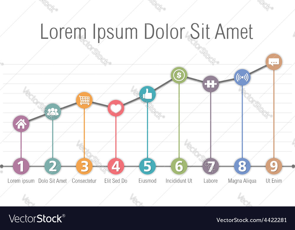 Bar Graph Template Royalty Free Vector Image - VectorStock