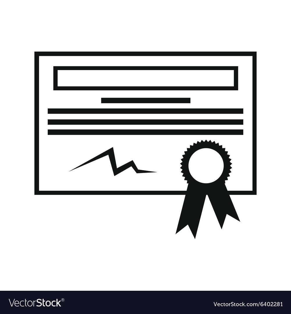 Certificate black icon