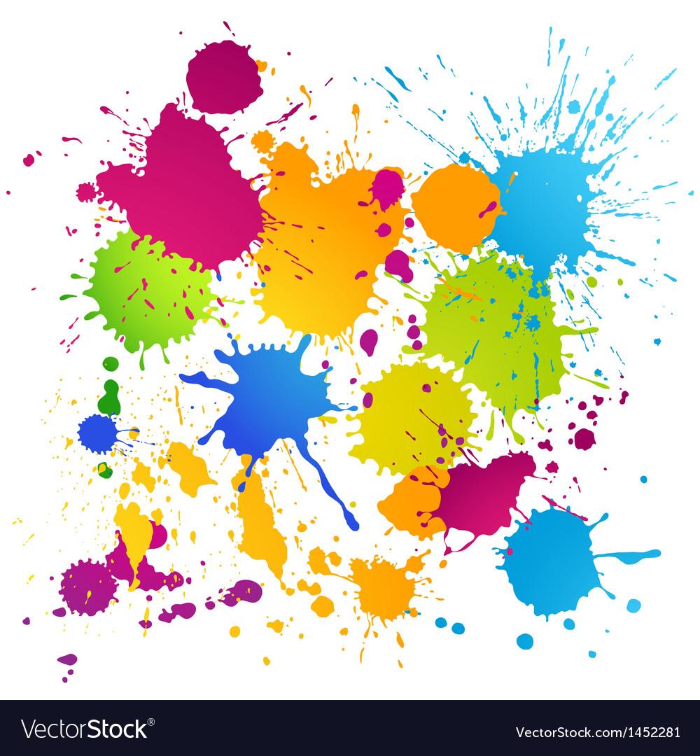 Colorful ink blots