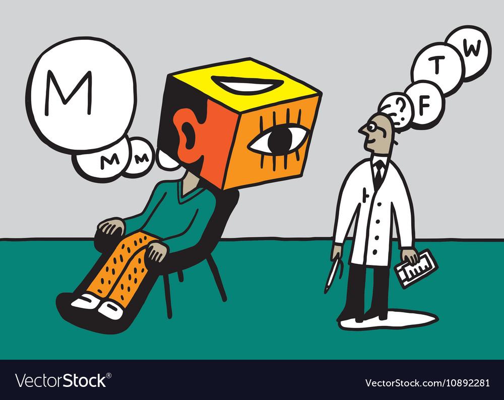 Doctor psychiatrist and patient