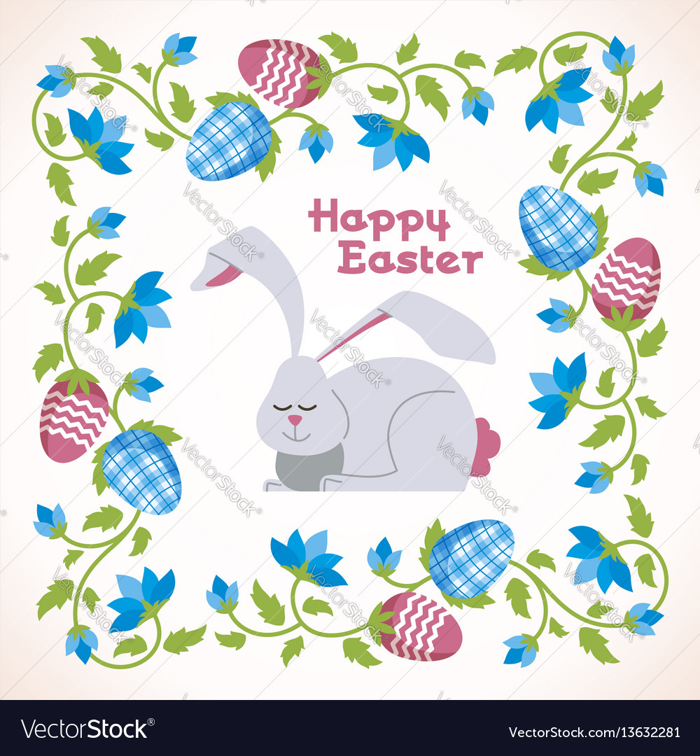 Happy easter - modern square card
