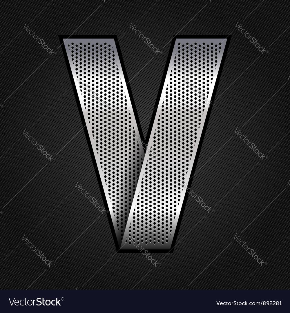 Letter metal chrome ribbon - V