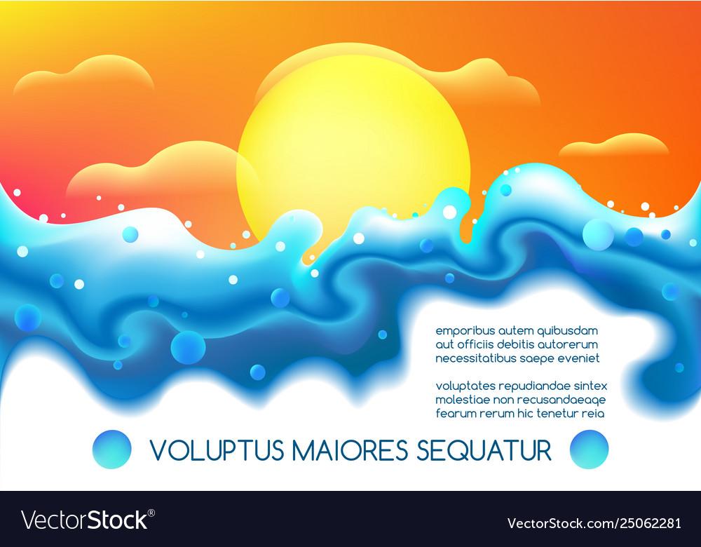 Liquid fluid futuristic landscape