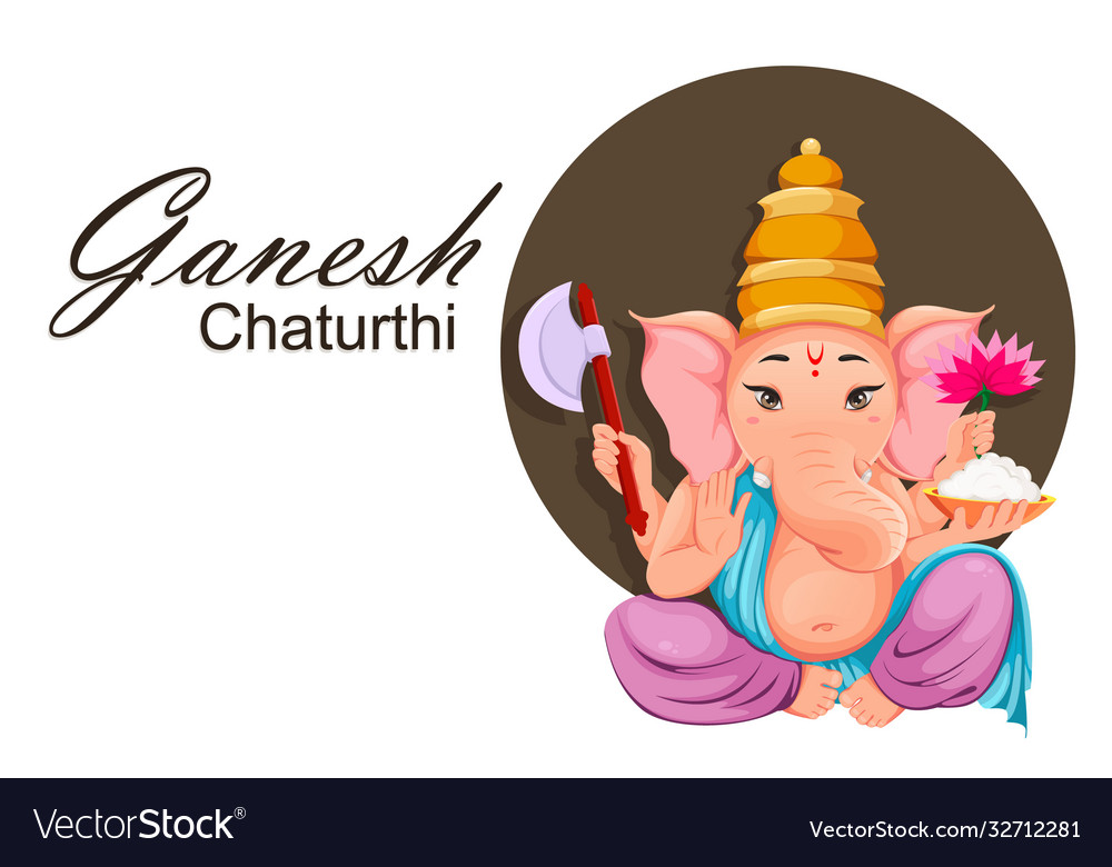 Lord ganesha idol in traditional indian clothes
