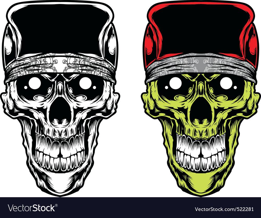 Skull caps bandana