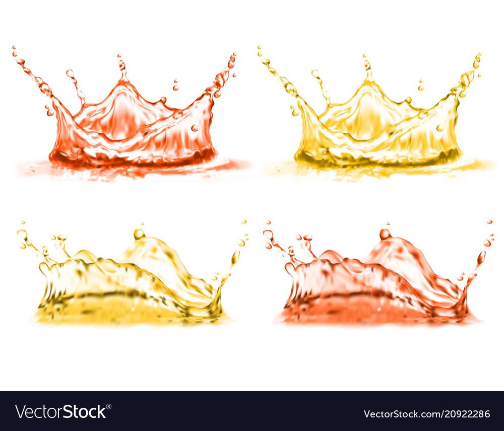 3d realistic set of splashes drops