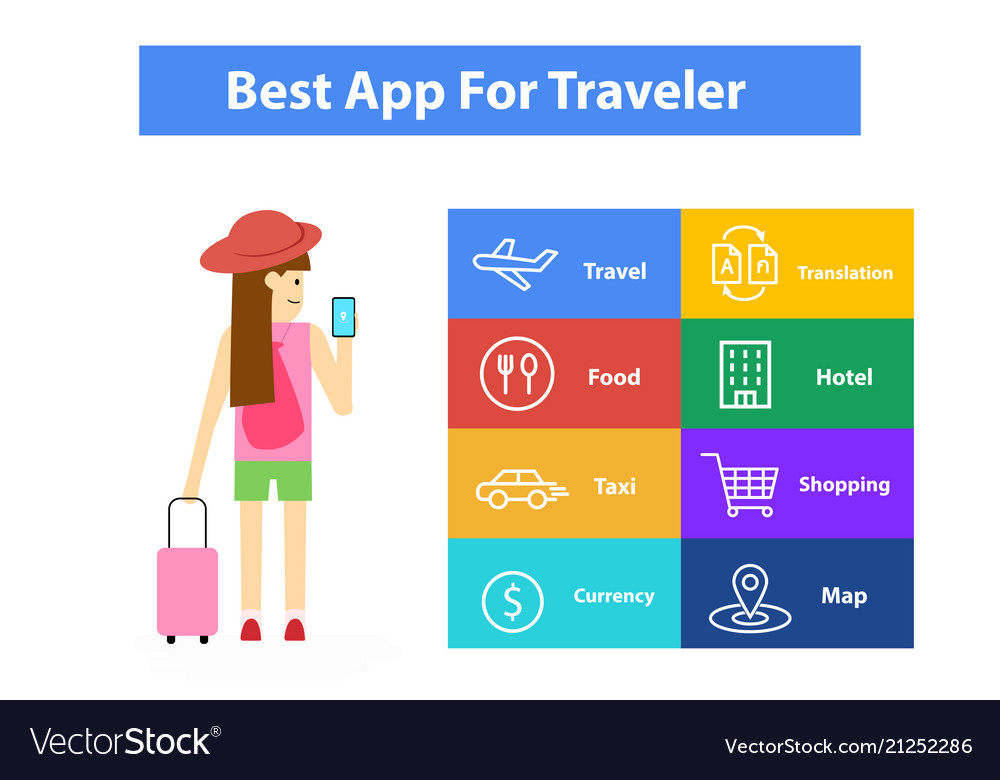 apps-for-traveler-infographic-art-vector-21252286 Get Inspired For Vector Art App @bookmarkpages.info