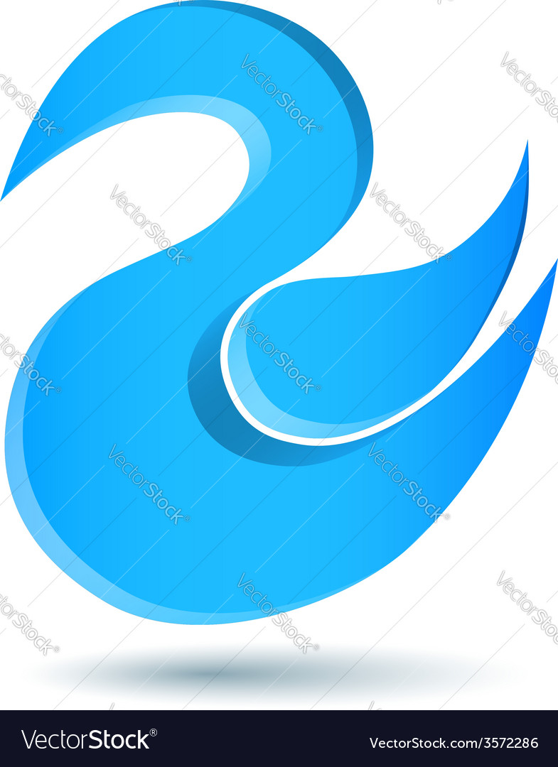 Blue twitter bird logo vector image