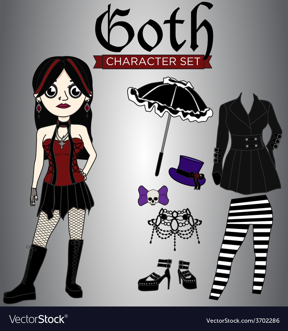 Goth Girl Character Set