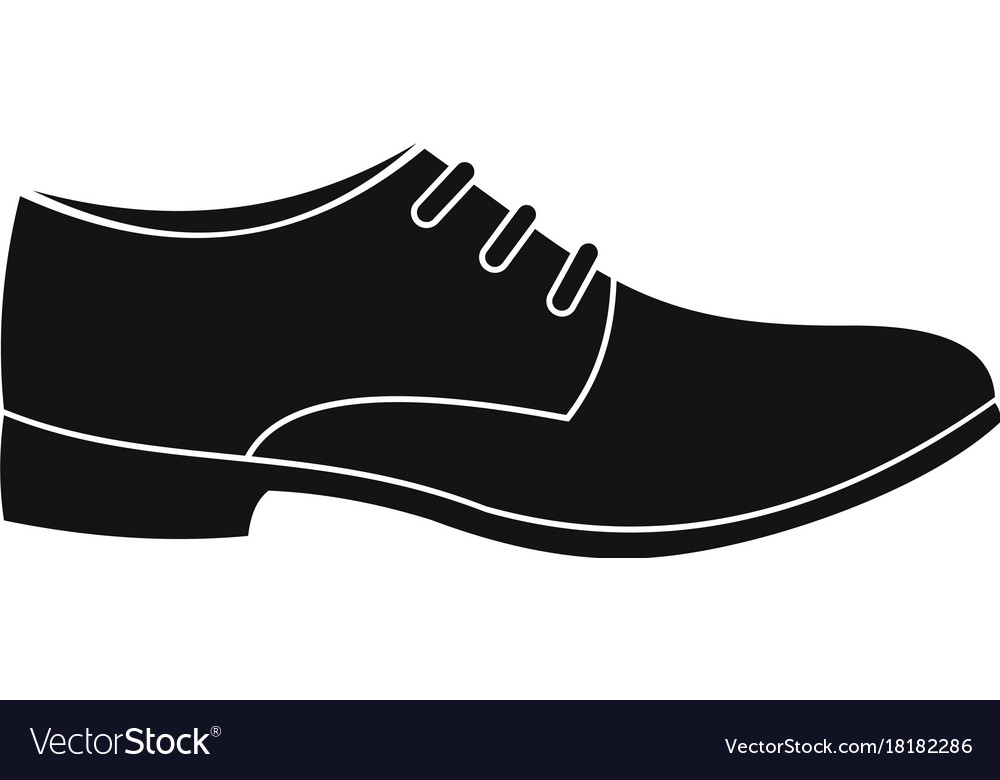 Men shoe icon simple Royalty Free Vector Image 3348590d7bfb
