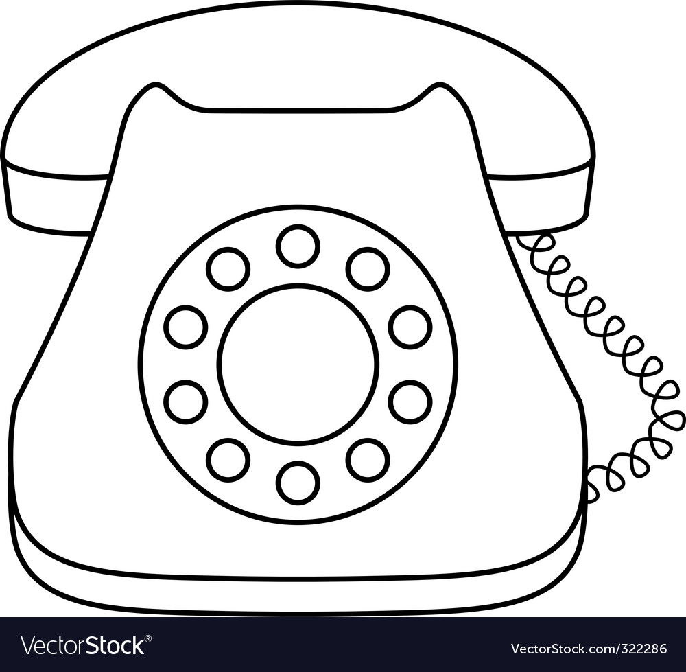 Phone dial vector image