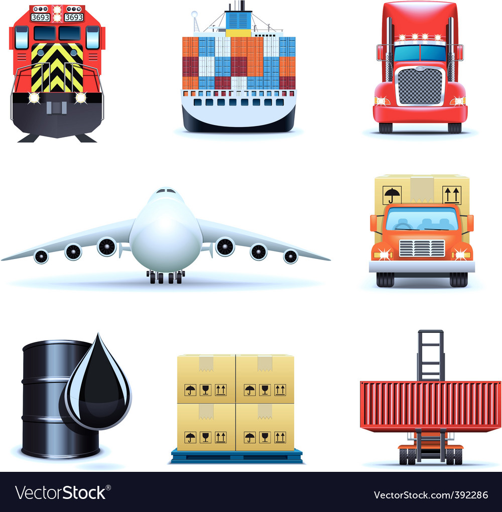 Shipping icons   bella series vector image