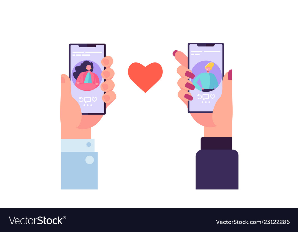 Smartphone dating application to find love