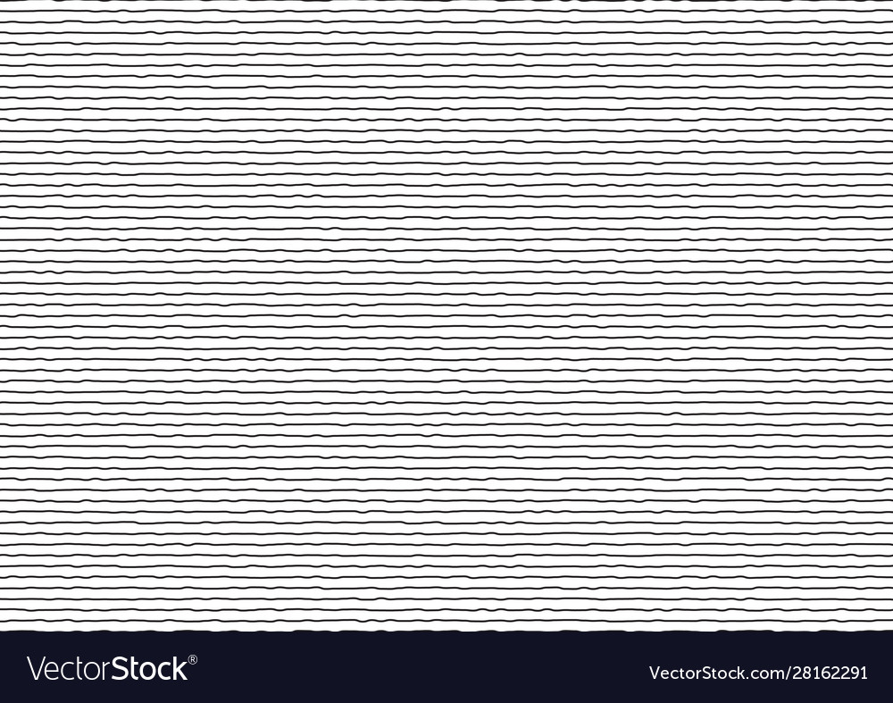 Abstract thin black stripes rough horizontal