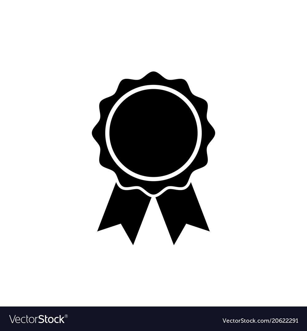 Award icon in flat style rosette symbol