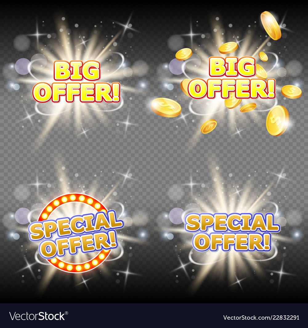Big and special offer banner set