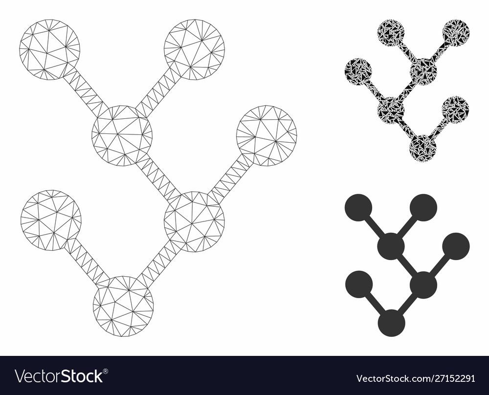 Binary tree mesh carcass model and triangle