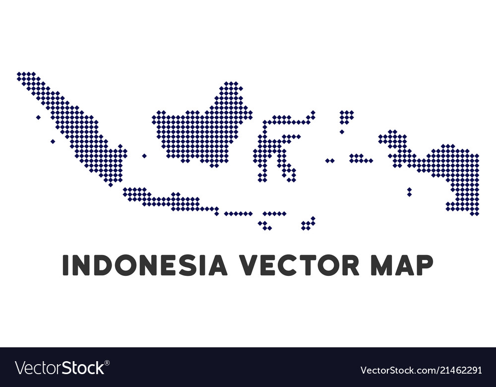 Dotted indonesia map Royalty Free Vector Image