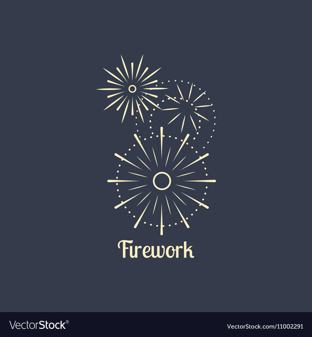 firework company logo on dark background vector image rh vectorstock com American Fireworks tnt fireworks logo vector