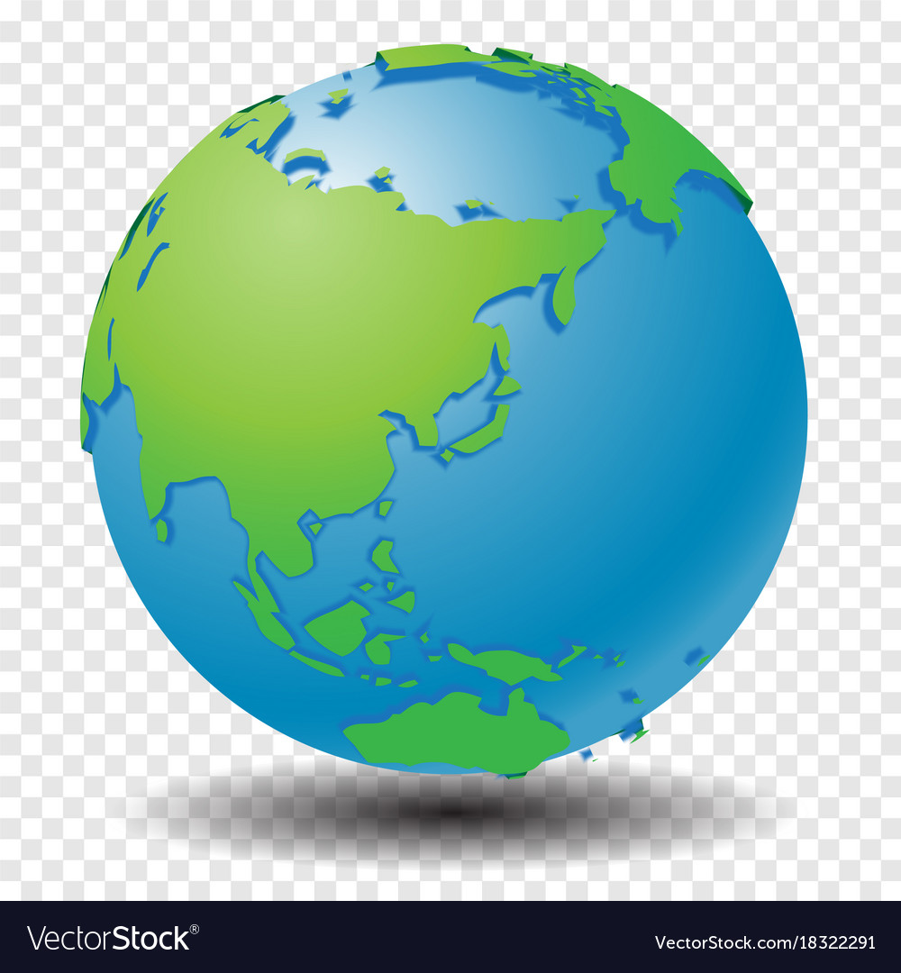 Globe Map Pictures.Globe With Wold Map On Transparency Grid Vector Image