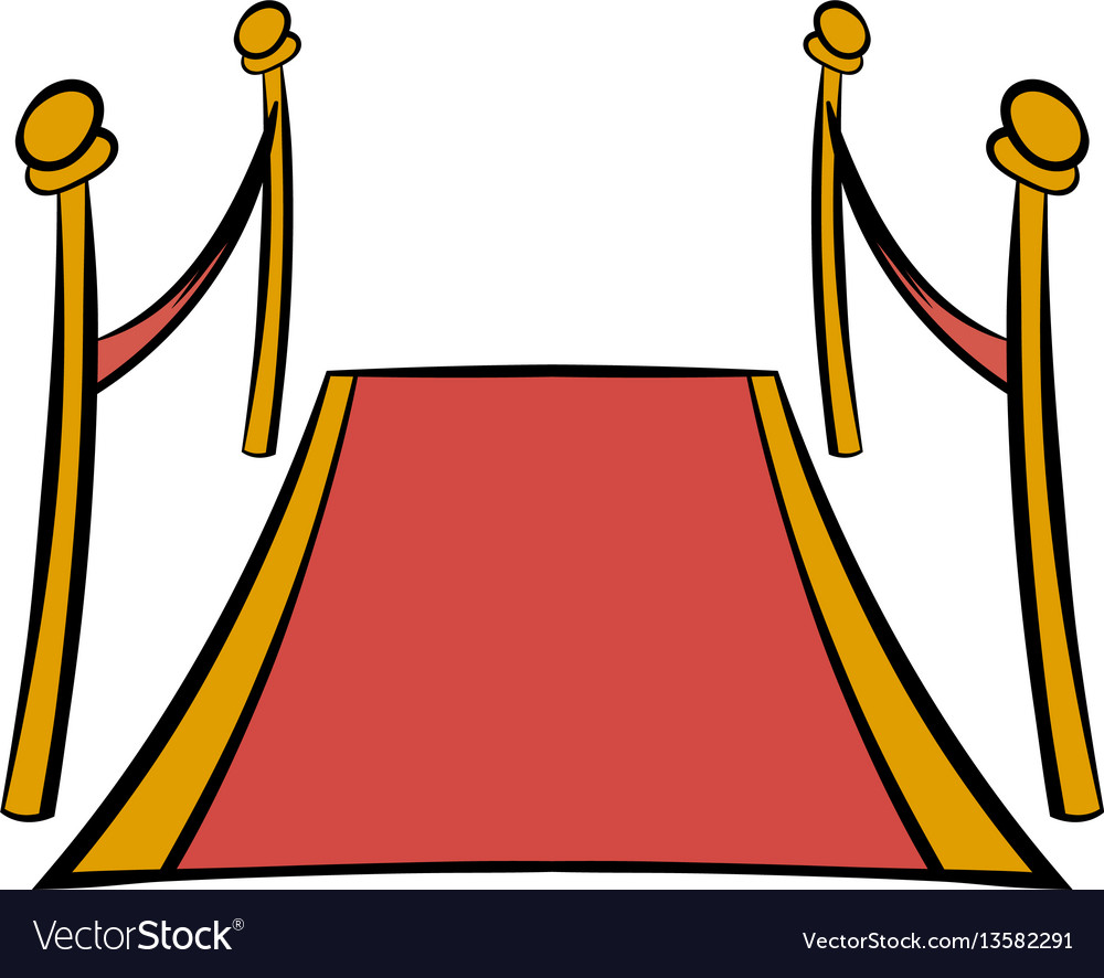 Red Carpet Icon Cartoon Royalty Free Vector Image
