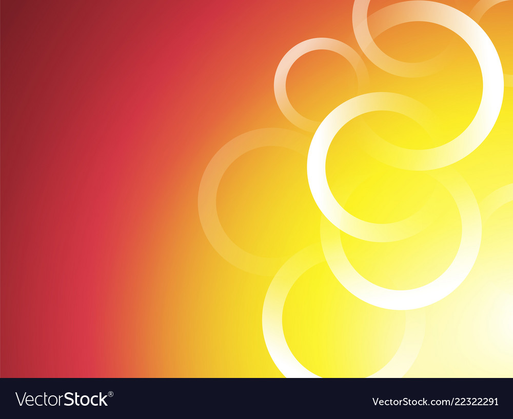 Red Orange Yellow Background With White Circles Vector Image