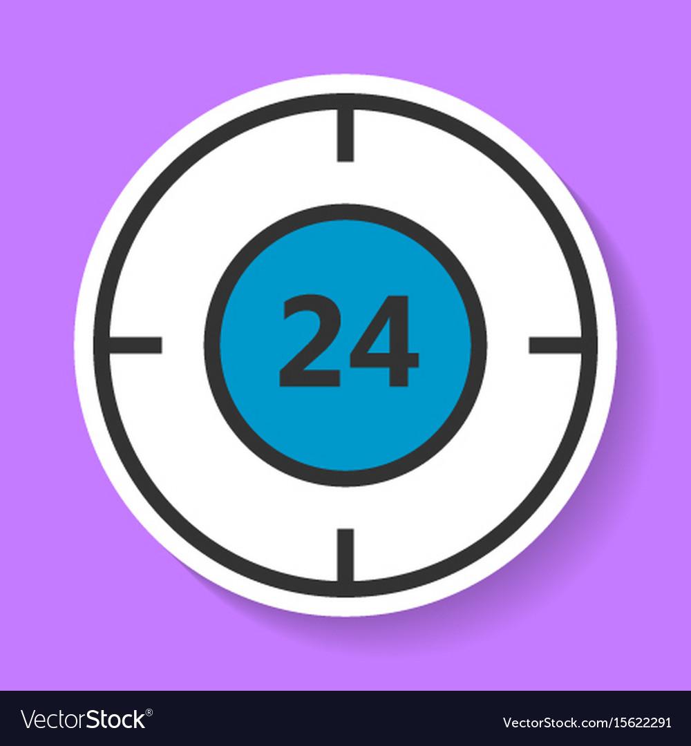 Round-the-clock service icon vector image