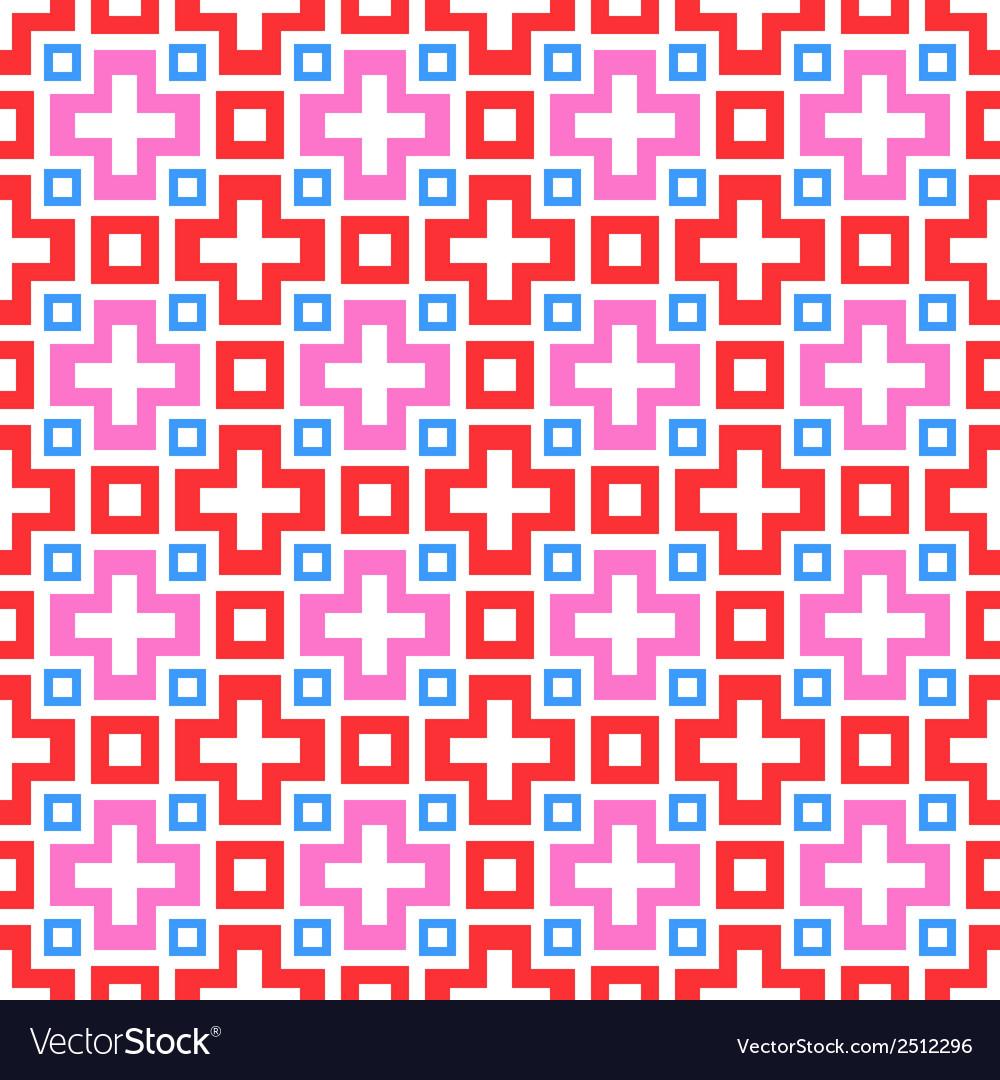 Abstract vivid seamless pattern tiling Royalty Free Vector
