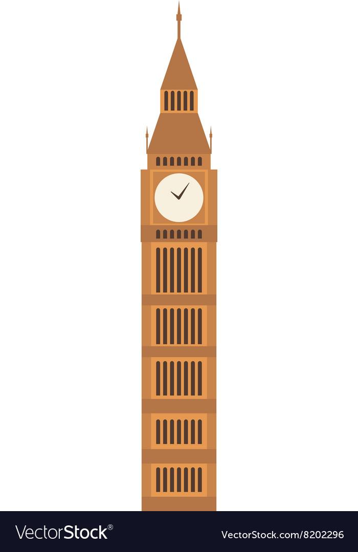 Big ben clock symbol of London vector image