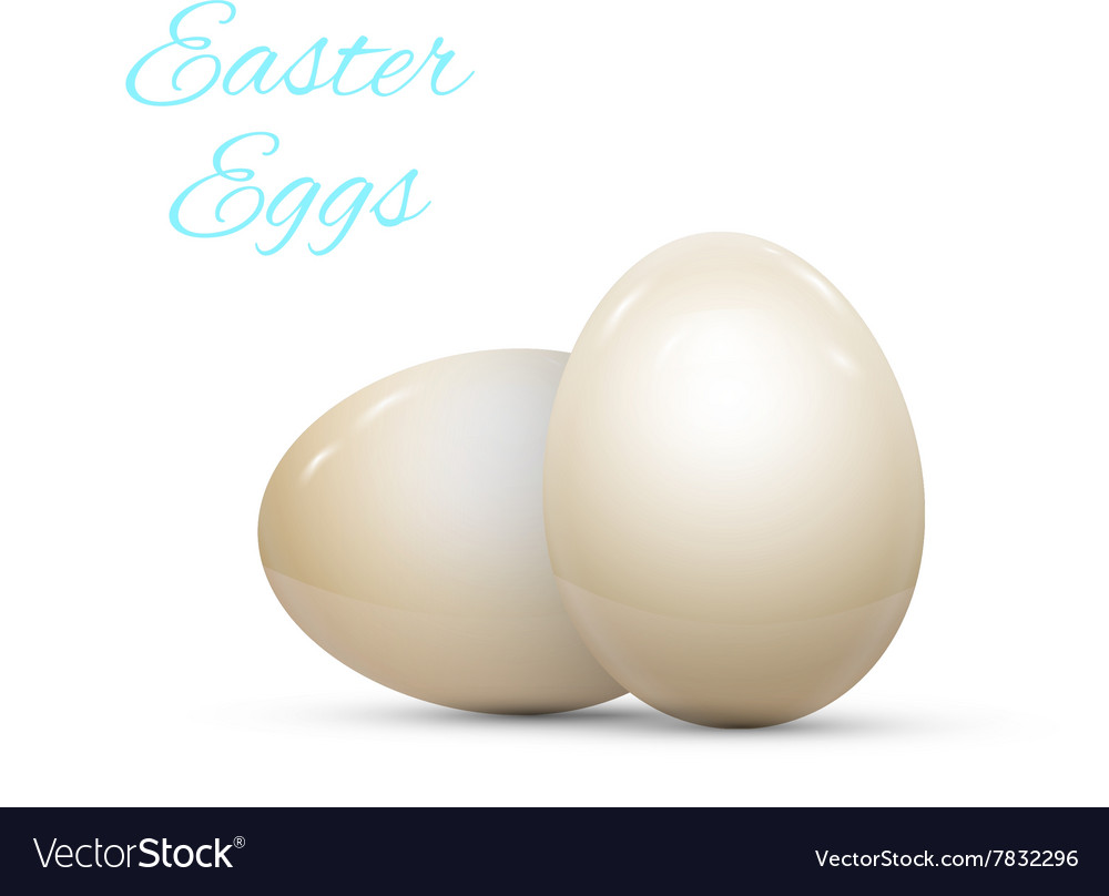 Easter Egg witnh Pattern Isolated on White