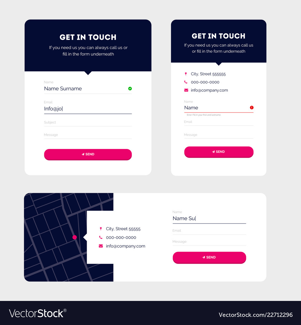 Modern contact forms material design