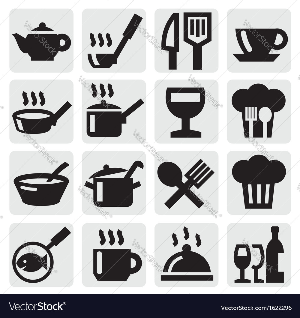 Restaurant cafe and bar icons
