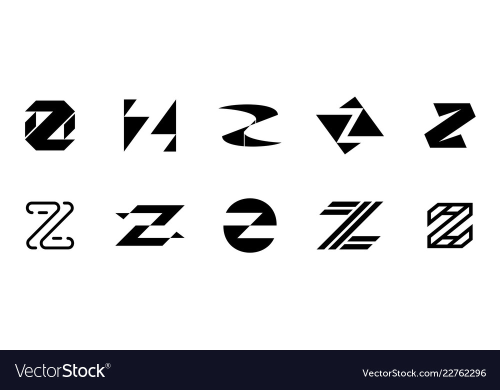 Set of letter z logo