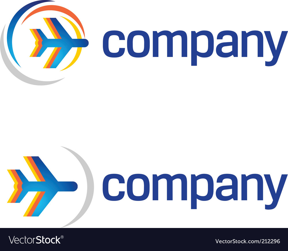 Travel by air logo vector image