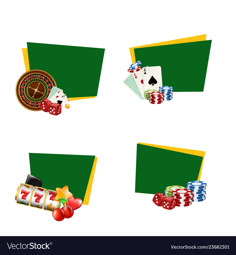 Casino gamble stickers with place for text
