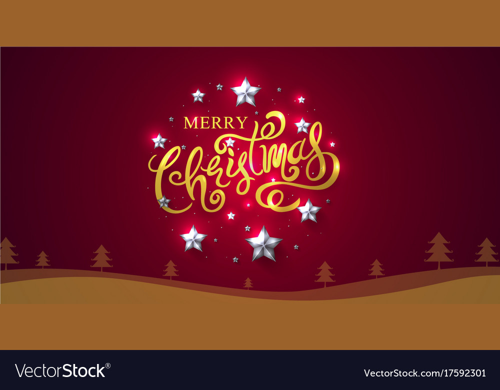 Merry christmas and happy new year 2018 Royalty Free Vector