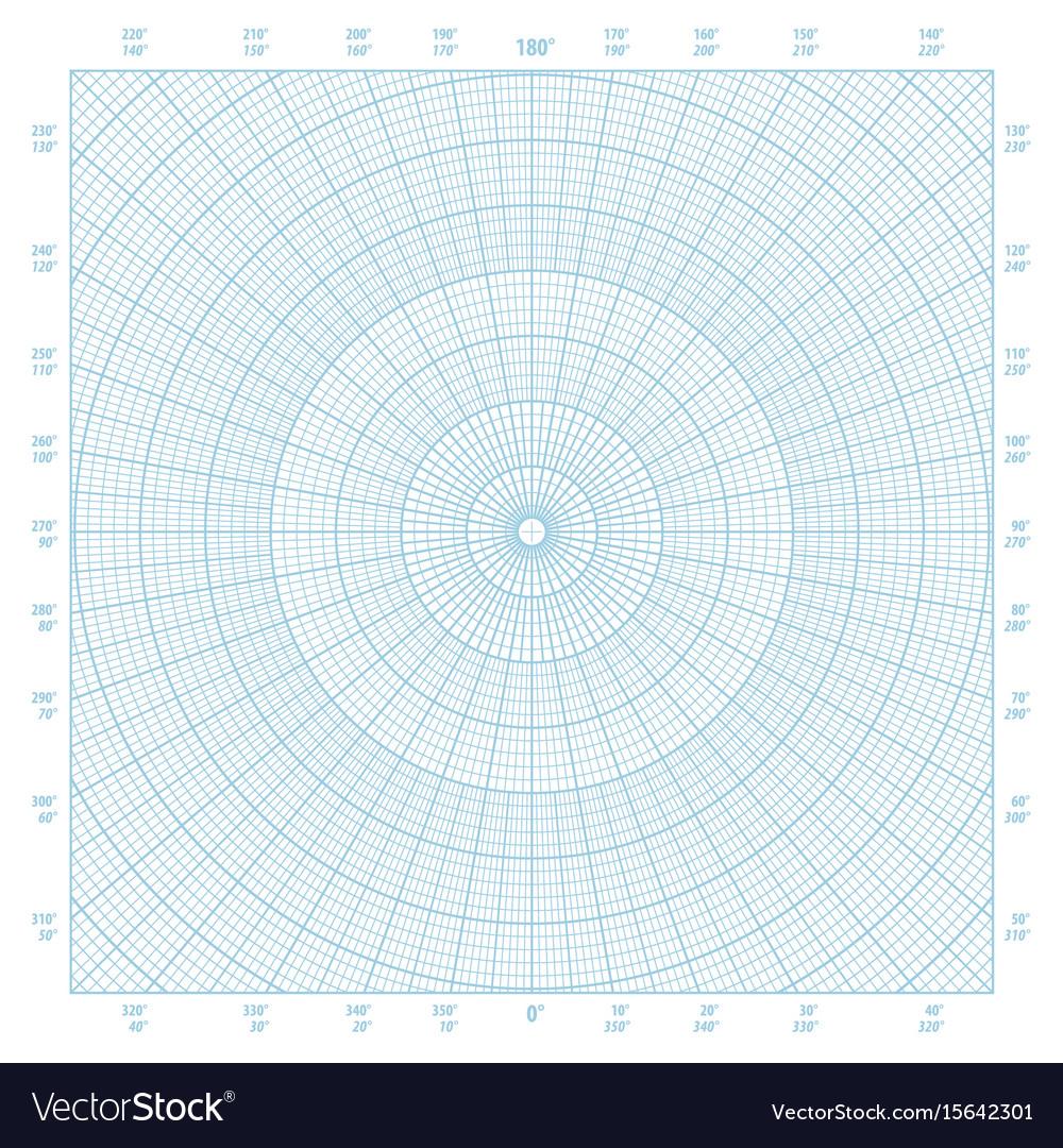 image regarding Polar Graph Paper Printable known as Polar coordinate round grid graph paper