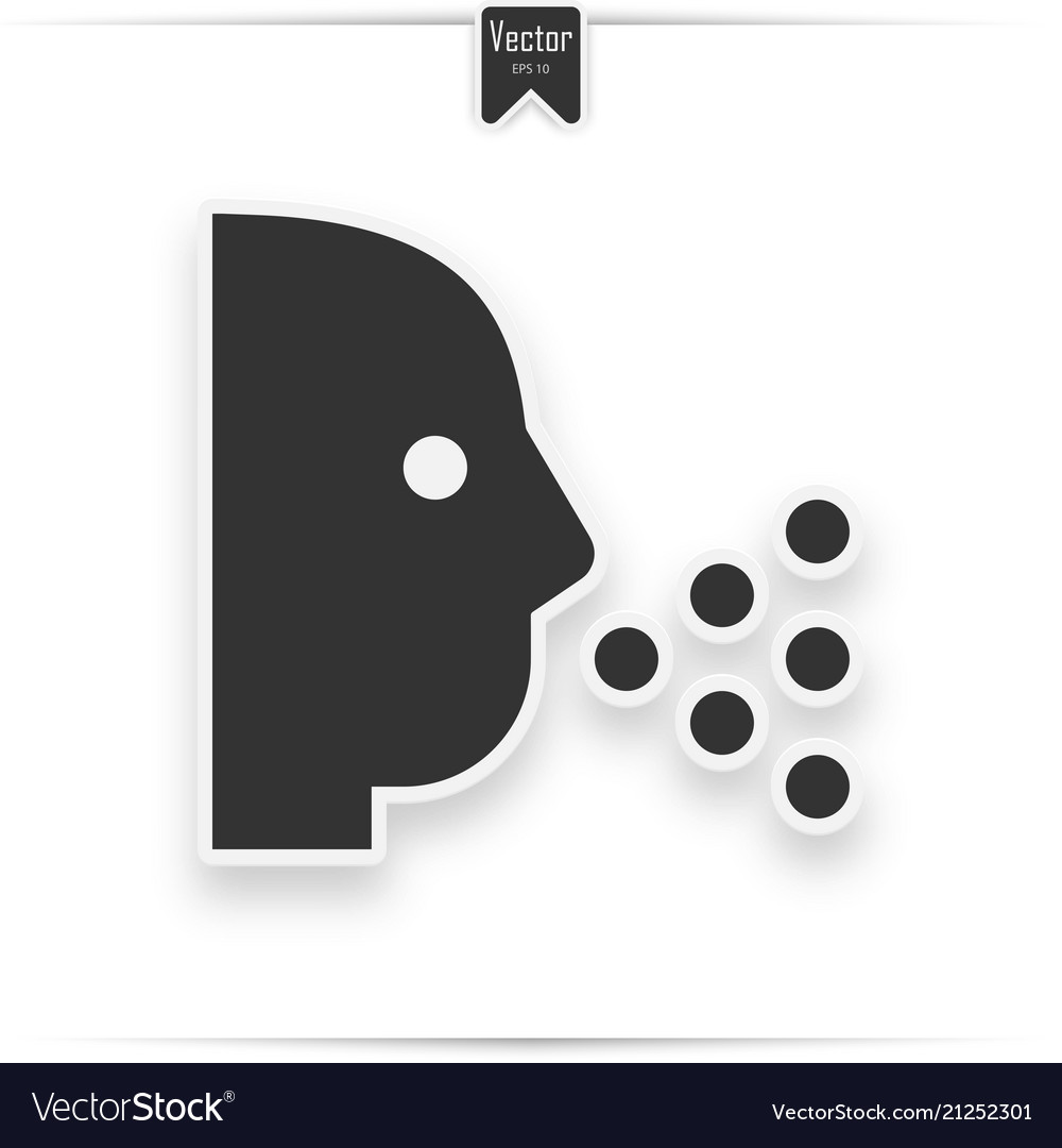Sneezing head shadow icon