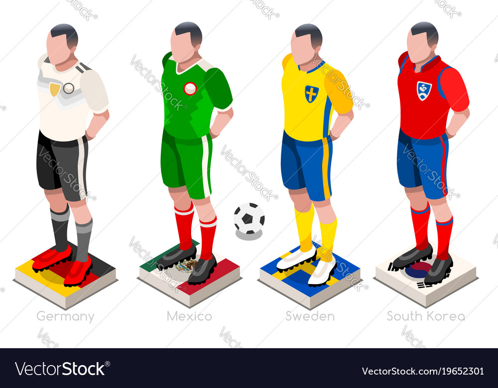 7b01479427e World cup football team Royalty Free Vector Image