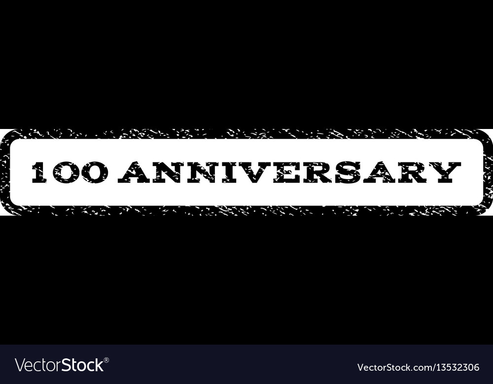 100 anniversary watermark stamp