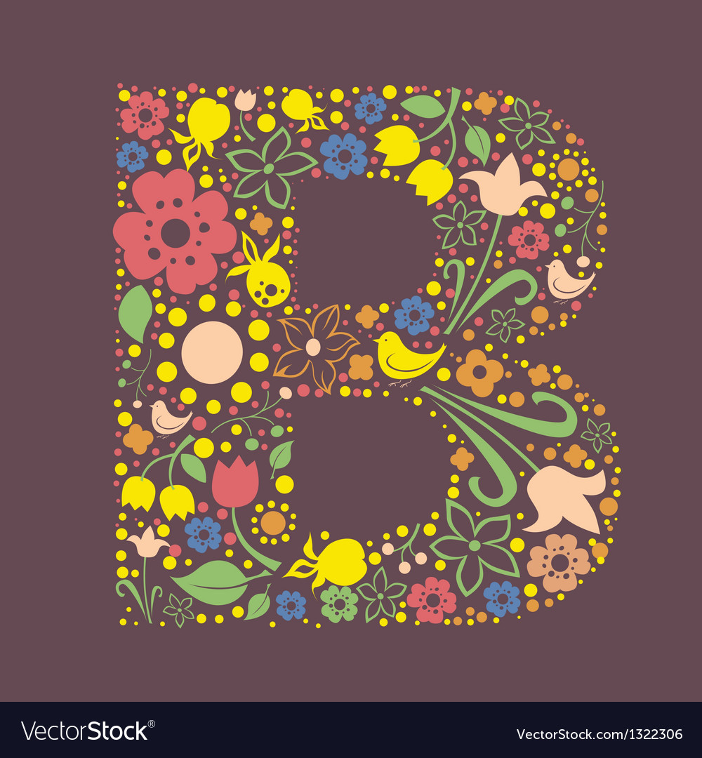 B letter color variant