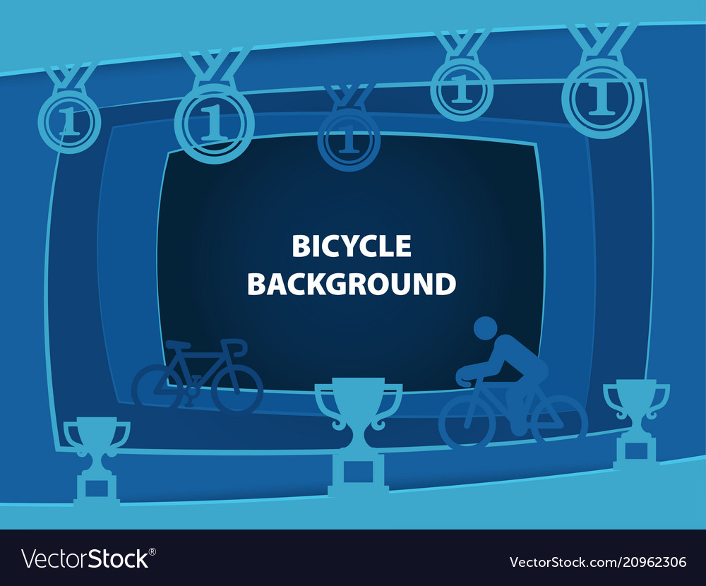 Bicycle abstract background with paper cut shapes